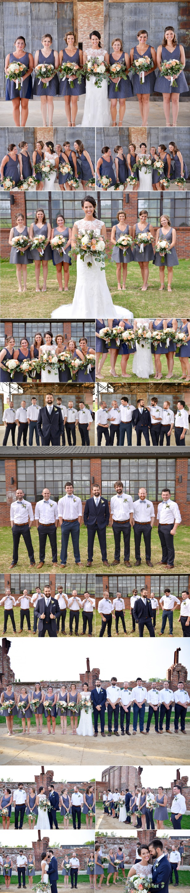 5-wedding in foundation park mt vernon ohio bridal party
