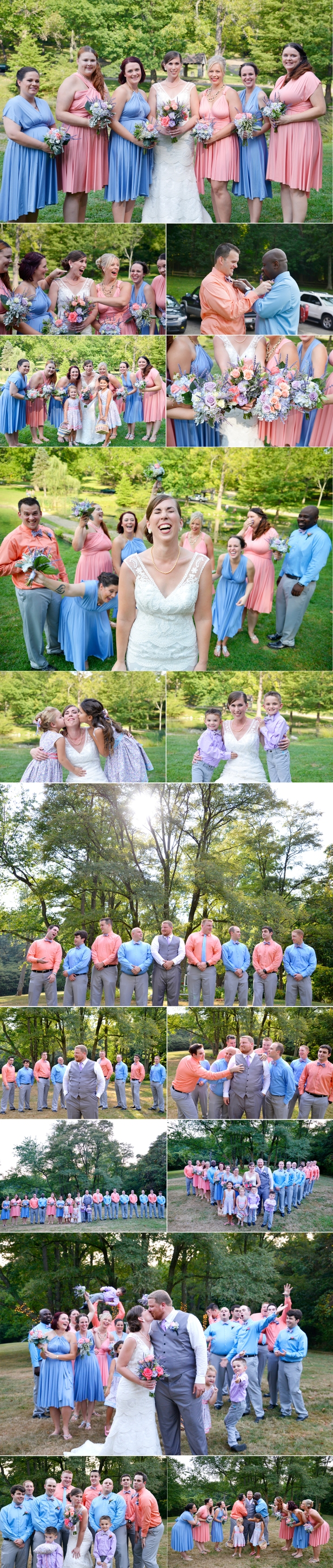 3 Rising park Lancaster Ohio bridal party