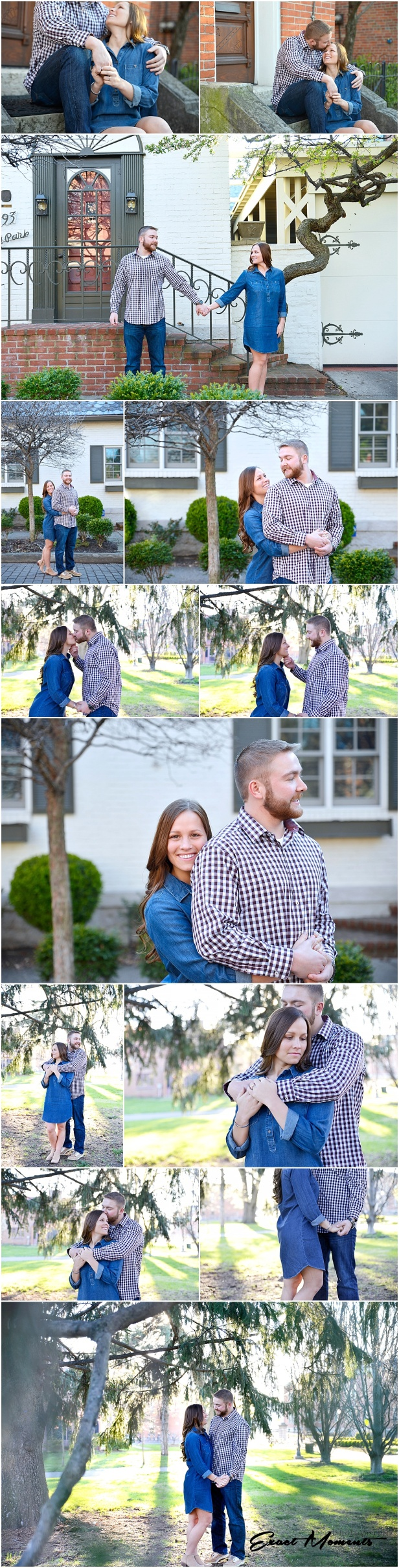 Engagement photos in german village