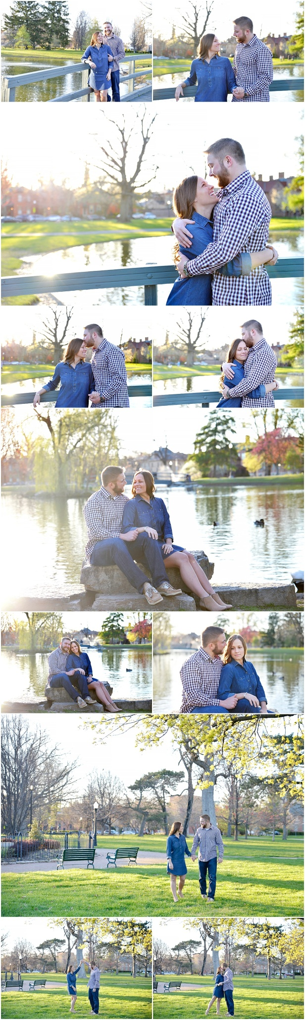 German village engagement photos Columbus Ohio