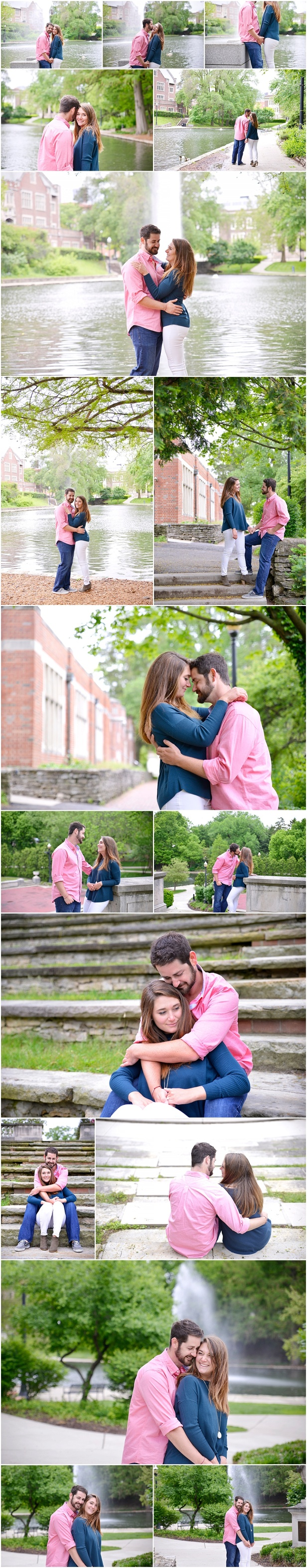 Engagement photos in Goodale park Columbus Ohio