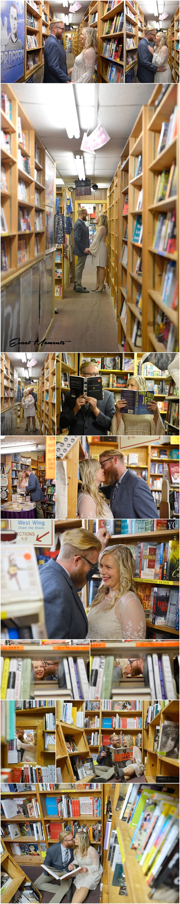 Engagement Session Book Loft German Village