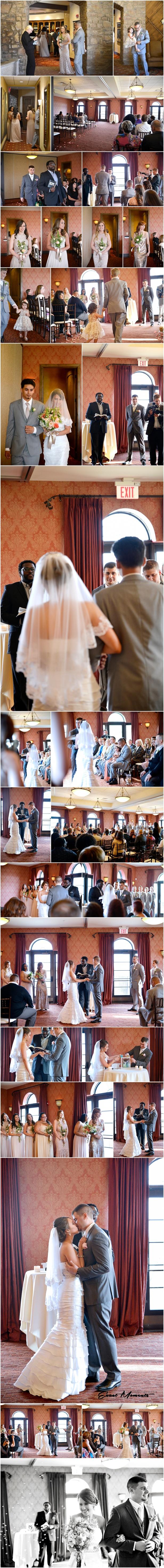 The club at Corazon wedding ceremony Columbus Ohio