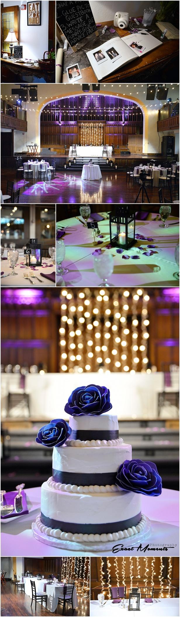 The Bluestone wedding reception details columbus Ohio