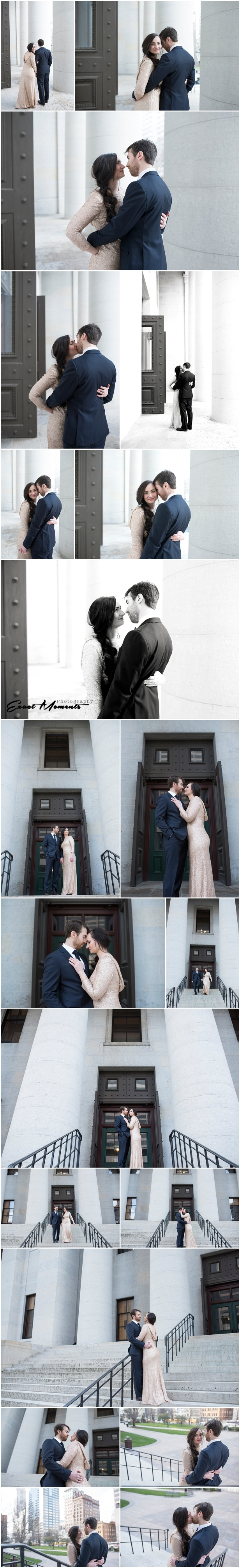 Ohio Statehouse Bride and Groom Photos