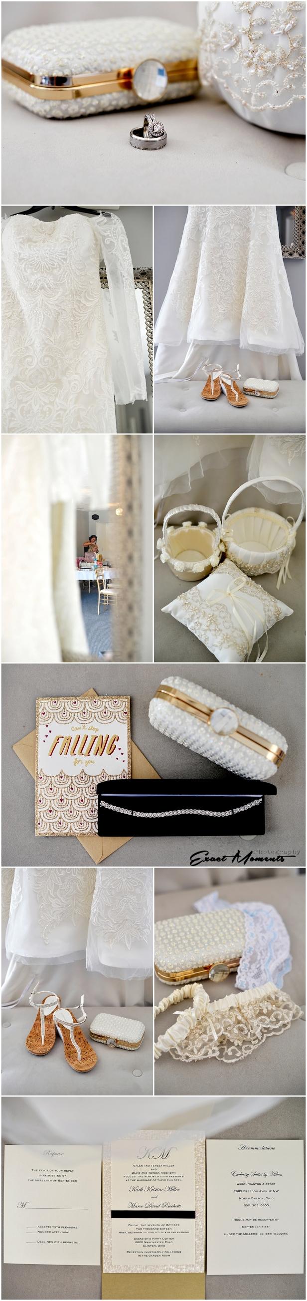 Gold bridal details