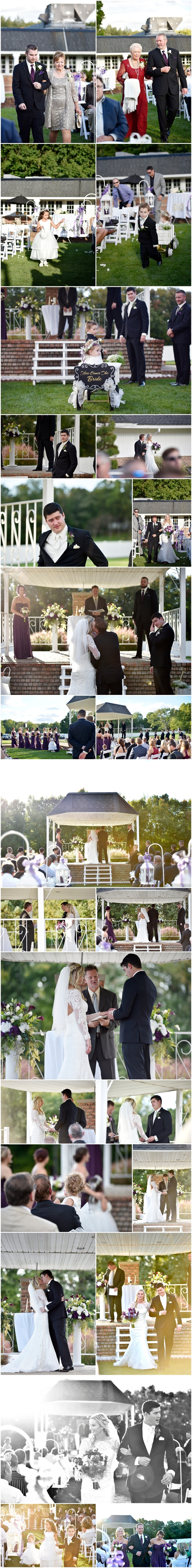 occasions party center wedding ceremony in canal fulton